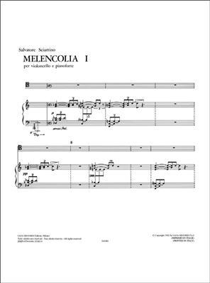 Salvatore Sciarrino: Melencolia I: Cello