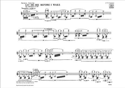 Salvatore Sciarrino: Let Me Die Before I Wake: Clarinet