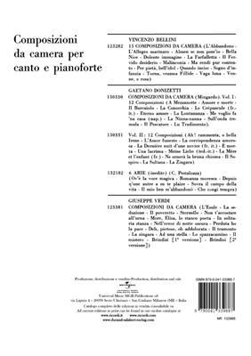 Gaetano Donizetti: Nuits D'Ete A Pausilippe: Vocal