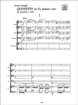 Ottorino Respighi: Quintetto in Fa minore: Piano Quintet
