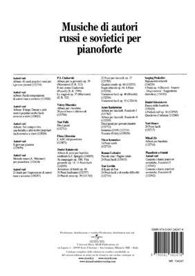 23 Studi Per L'Espressione Di Autori Russi E: Piano
