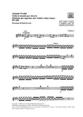 Antonio Vivaldi: Nulla In Mundo Pax Sincera RV 630 - Parts: Voice