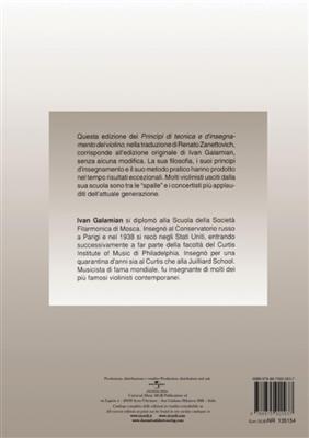 Ivan Galamian: Principi Di Tecnica E D'Insegnamento Del Violino: Violin