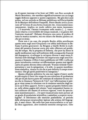 Michel Imberty: Le Scritture Del Tempo