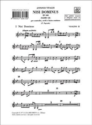Antonio Vivaldi: Nisi Dominus. Salmo 126 Rv 608: Voice