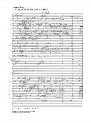 Luciano Berio: Vor, Wahrend, Nach Zaide: Opera