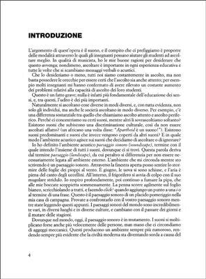 M. Schafer: L'Educazione Al Suono: Books on Music