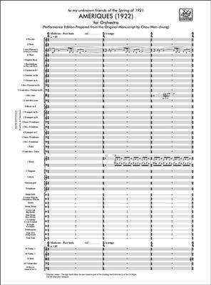 Edgar Varèse: Ameriques (1922): Orchestra