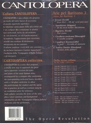 Cantolopera: Arie Per Baritono Vol. 3: Opera or Operette