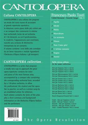 Francesco Paolo Tosti: Cantolopera: Celebri Romanze Vol. 1: Voice