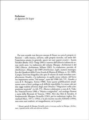 Iannis Xenakis: Universi Del Suono. Scritti E Interventi 1955-1994