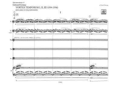 Gérard Grisey: Vortex Temporum I - II - III: Piano or Keyboard