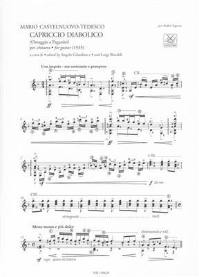 Mario Castelnuovo-Tedesco: Capriccio Diabolico - Tarantella Per Chitarra: Guitar or Lute