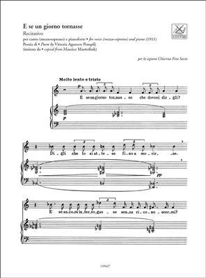 Ottorino Respighi: Liriche - Art Songs: High Voice