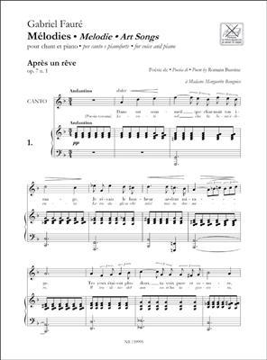 Gabriel Fauré: Melodies - Art Songs: Voice