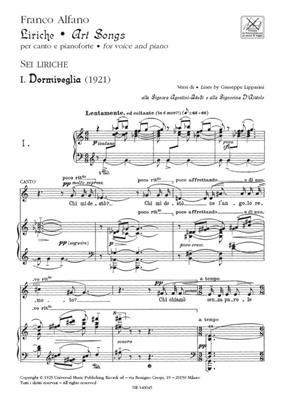 Franco Alfano: Liriche - Art Songs: Voice