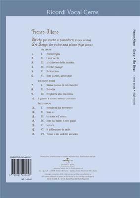 Franco Alfano: Liriche - Art Songs: Vocal