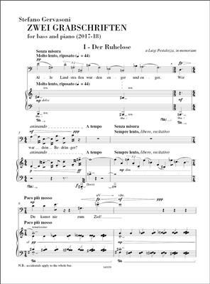 Stefano Gervasoni: Drei Grabschriften: Bass