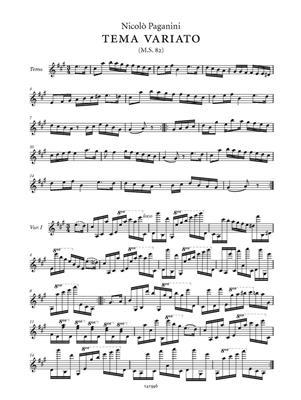 Niccolò Paganini: Tema variato M.S. 82: Violin