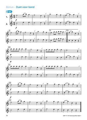 Samen Leren Samenspelen Vlaams Deel 1: Tenor Saxophone