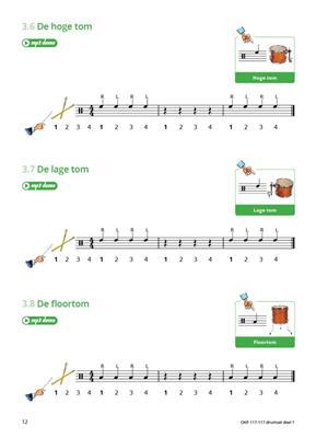 Samen Leren Samenspelen Vlaams Deel 1: Drum Kit