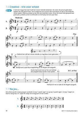 Samen Leren Samenspelen Vlaams Deel 2: Alto Saxophone