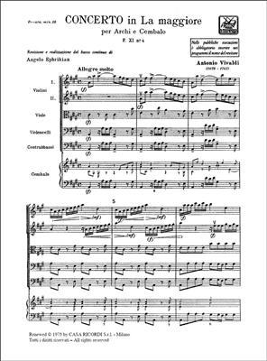 Antonio Vivaldi: Concerto per Archi in La Maggiore RV 158: Orchestra