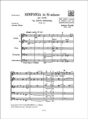 Antonio Vivaldi: Concerto per Archi in Si Min. Rv 169  : String Ensemble
