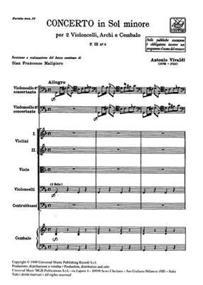 Antonio Vivaldi: Concerto In Sol Minore RV531: Cello