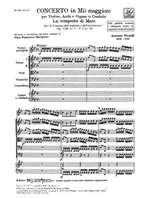 Antonio Vivaldi: Concerto In Eb Op.VIII N.5 RV 253: Violin