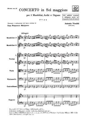 Antonio Vivaldi: Concerto Per Mandolino, Archi E B.C.: : Mandolin