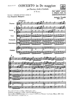 Antonio Vivaldi: Concerto Per Ottavino ('Flautino'), Archi E B.C.: Chamber Ensemble