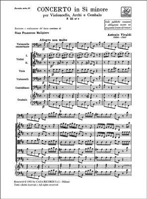Antonio Vivaldi: Concerto In Si Min. RV 424: Cello