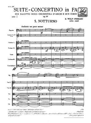 Ermanno Wolf-Ferrari: Suite - Concertino In Fa Op. 16: Bassoon