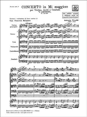 Antonio Vivaldi: Concerto In Mi 'L'Amoroso' RV 271: Violin