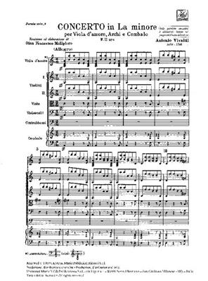 Concerto Per Viola D'Amore, Archi, BC La Min Rv397