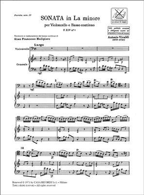 Antonio Vivaldi: Sonata per violoncello e BC in La Min. Rv 44: Cello