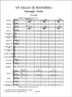 Giuseppe Verdi: Un ballo in maschera: Opera