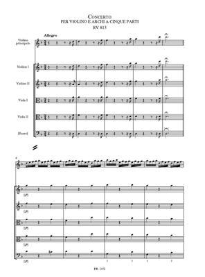 Antonio Vivaldi: Concerto per violino e archi a cinque parti RV 813: Violin
