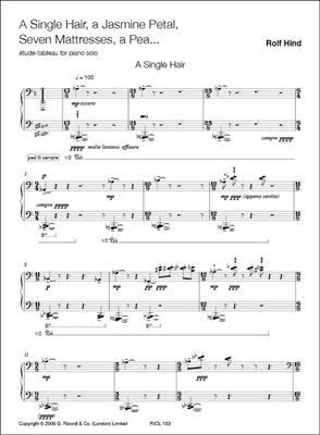 R. Hind: A Single Hair, A Jasmine Petal, Seven Mattresses: Piano