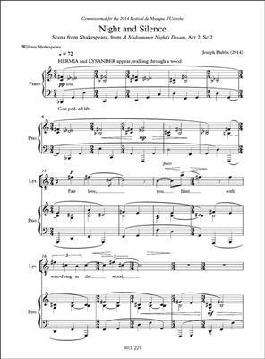 Joseph Phibbs: Night and Silence: Vocal