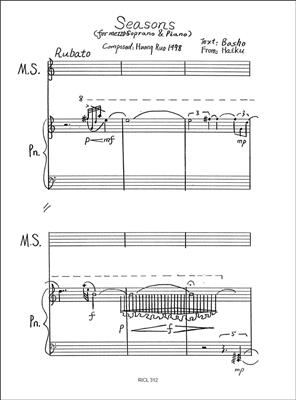 Huang Ruo: Seasons: Mezzo-Soprano