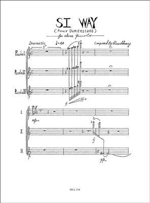 Huang Ruo: Si Way: Flute Ensemble