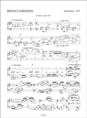 John Hopkins: Disjunct Variations: Piano