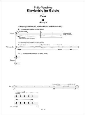Philip Venables: Klaviertrio im Geiste: Piano Trio