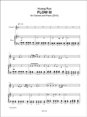 Huang Ruo: Flow III: Clarinet