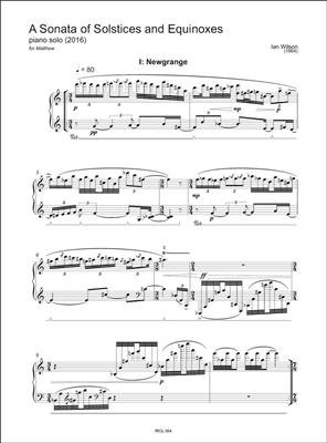 Ian Wilson: A Sonata of Solstices and Equinoxes: Piano