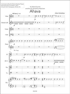 Adam Schoenberg: Ahava: Ensemble