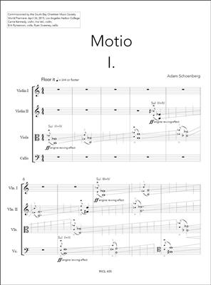 Adam Schoenberg: Motio (2015): String Quartet