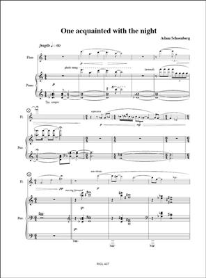 Adam Schoenberg: One acquainted with the night: Flute